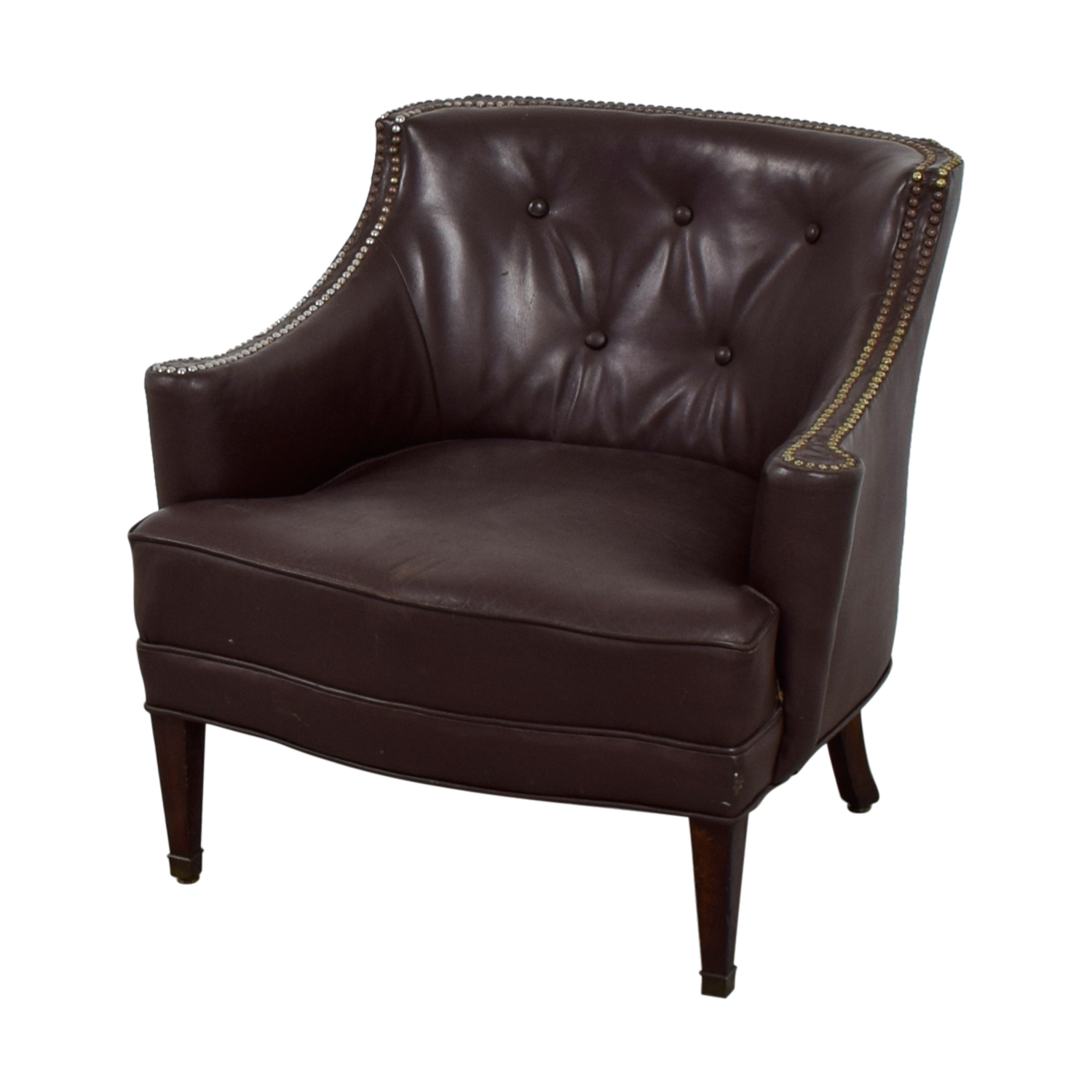 Leather Side Chair 90 Off Pier 1 Imports Pier 1 Imports Brown Leather Side
