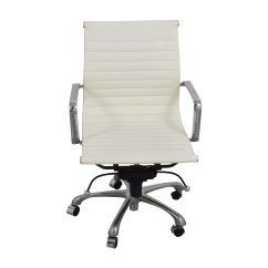 Office Chair Online Swing Replacement Seat 84 Off White And Chrome Chairs