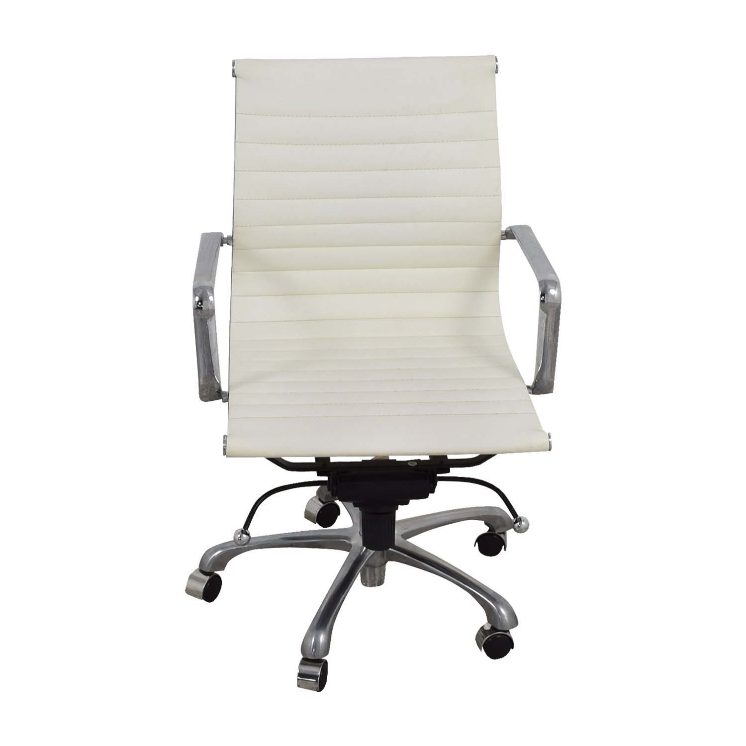 Office Chairs White 84 Off White And Chrome Office Chair Chairs
