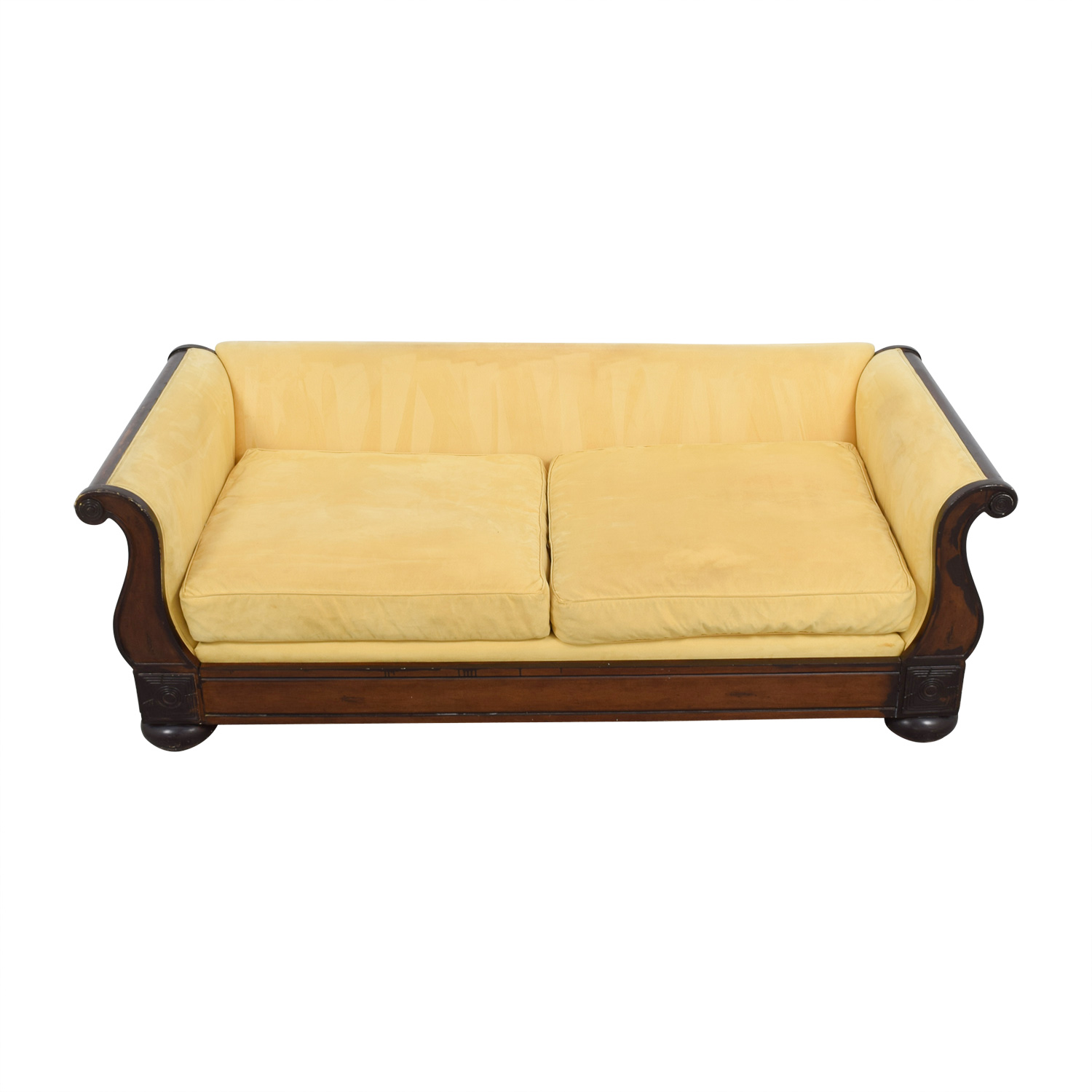 crate and barrel sofa cushion replacement sofas on finance 90 off yellow two