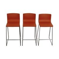 86% OFF - IKEA IKEA Bernhard Orange Bar Stools / Chairs