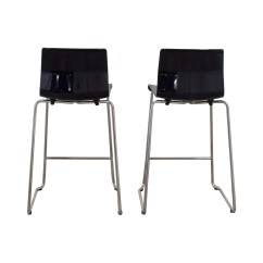 Ikea Metal Chairs Chair Cover Hire Telford 81 Off Black And Bar Stools