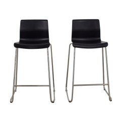 Ikea Metal Chairs Wedding Chair Covers Hire Liverpool 81 Off Black And Bar Stools