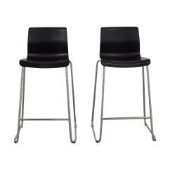 Black Bar Stool Chairs Swivel Chair Bearing 81 Off Ikea And Metal Stools