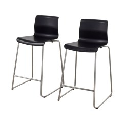 Ikea Metal Chairs Lowe S Canada Patio 81 Off Black And Bar Stools