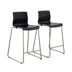 Ikea Metal Chairs Upholstered Accent With Arms 81 Off Black And Bar Stools