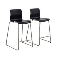 81% OFF - IKEA IKEA Black and Metal Bar Stools / Chairs