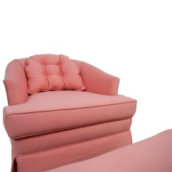 Accent Chairs With Ottoman Racing Seat Office Chair Diy 83 Off Pink