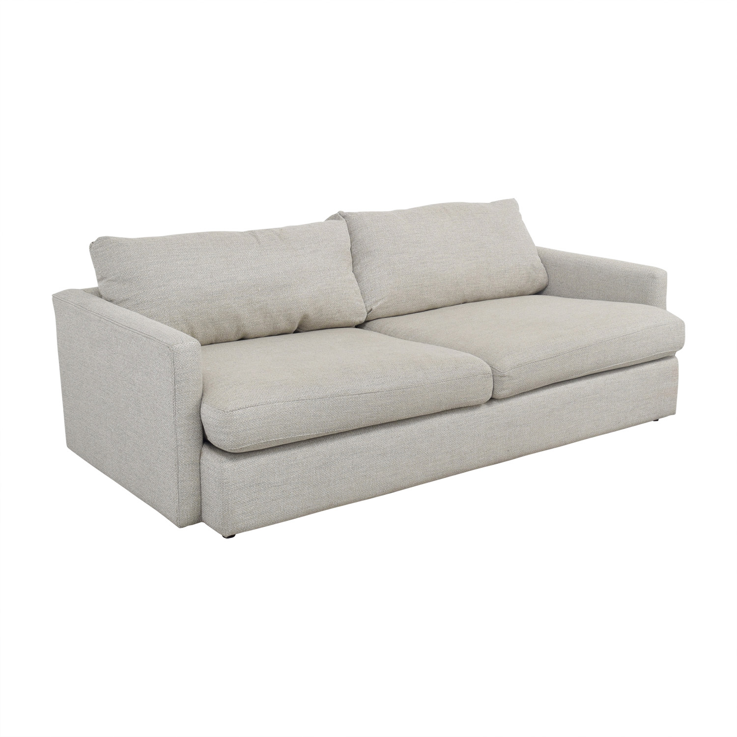 crate and barrel chair cushions oversized swivel cover 49 off lounge ii cement