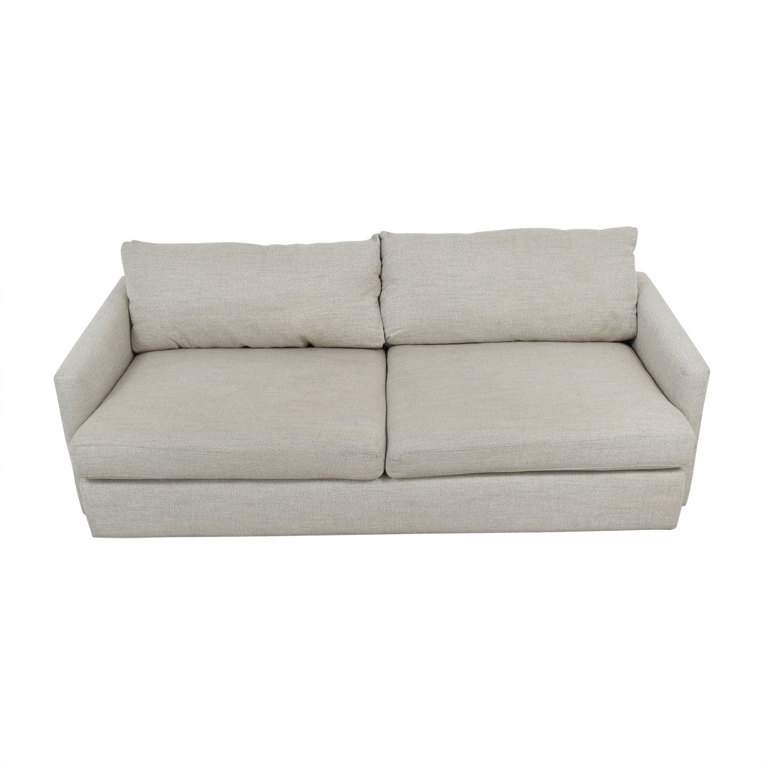 crate and barrel sofa cushion replacement bed 49 off lounge ii cement