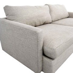 Crate And Barrel Sofa Cushion Replacement Dark Gray Table 49 Off Lounge Ii Cement