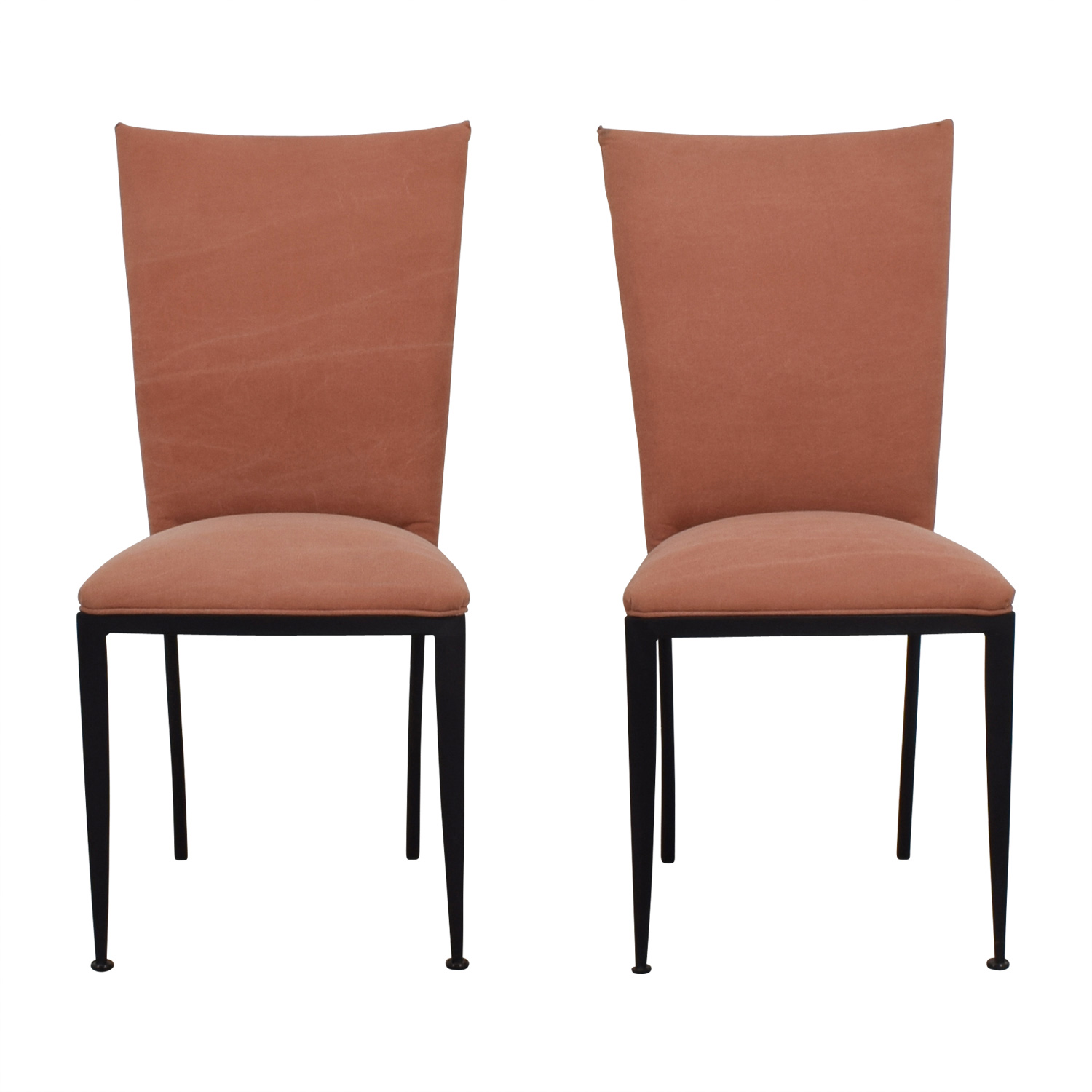 Pink Upholstered Chair Dining Chairs Used Dining Chairs For Sale