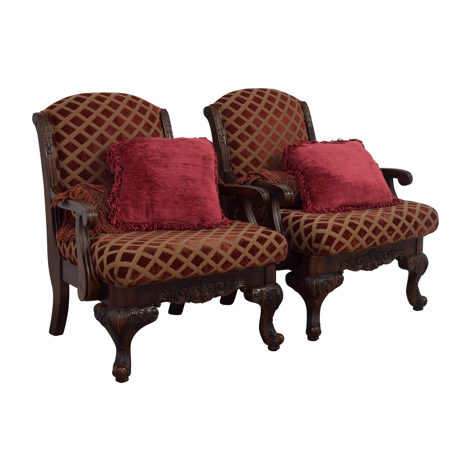 Gold Accent Chairs 55 Off Burgundy And Gold Accent Chairs With Toss