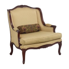 Revolving Chair Second Hand Desk On Carpet 41 Off Gold And Red Wide Accent Chairs