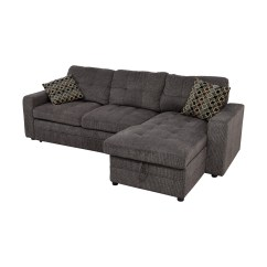 Grey Tweed Sectional Sofa Sofas And Couches Melbourne 45 Off Twin To Full Sofabed With