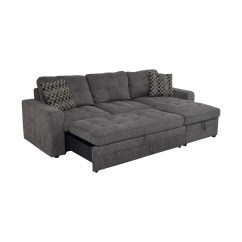 Grey Tweed Sectional Sofa Lazy Boy Recliner Uk 45 Off Twin To Full Sofabed With