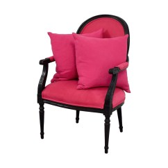Armchair Pillow Dining Captain Chairs 80 Off Ethan Allen Fuchsia Upholstered