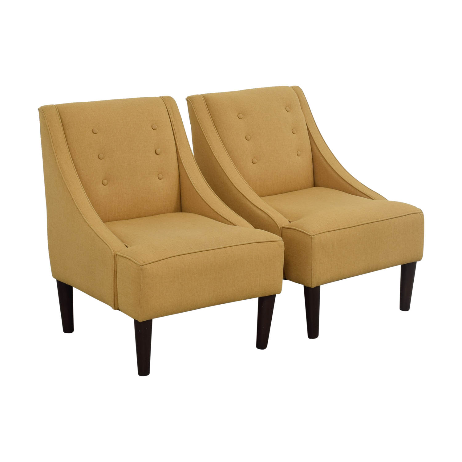 Mustard Accent Chair 77 Off Thomas Paul Thomas Paul Mustard Tufted Accent