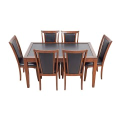 Suede Dining Table Chairs Small Bedroom 83 Off Bobs Furniture Leather And Wood