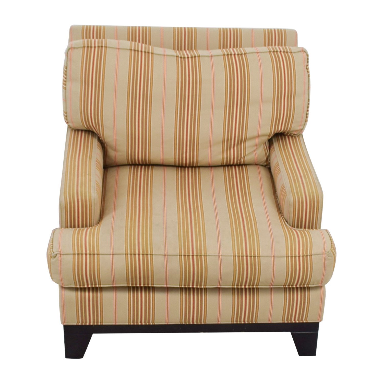 Ethan Allen Club Chairs Ethan Allen Beige Gold And Red Striped Arm Chair