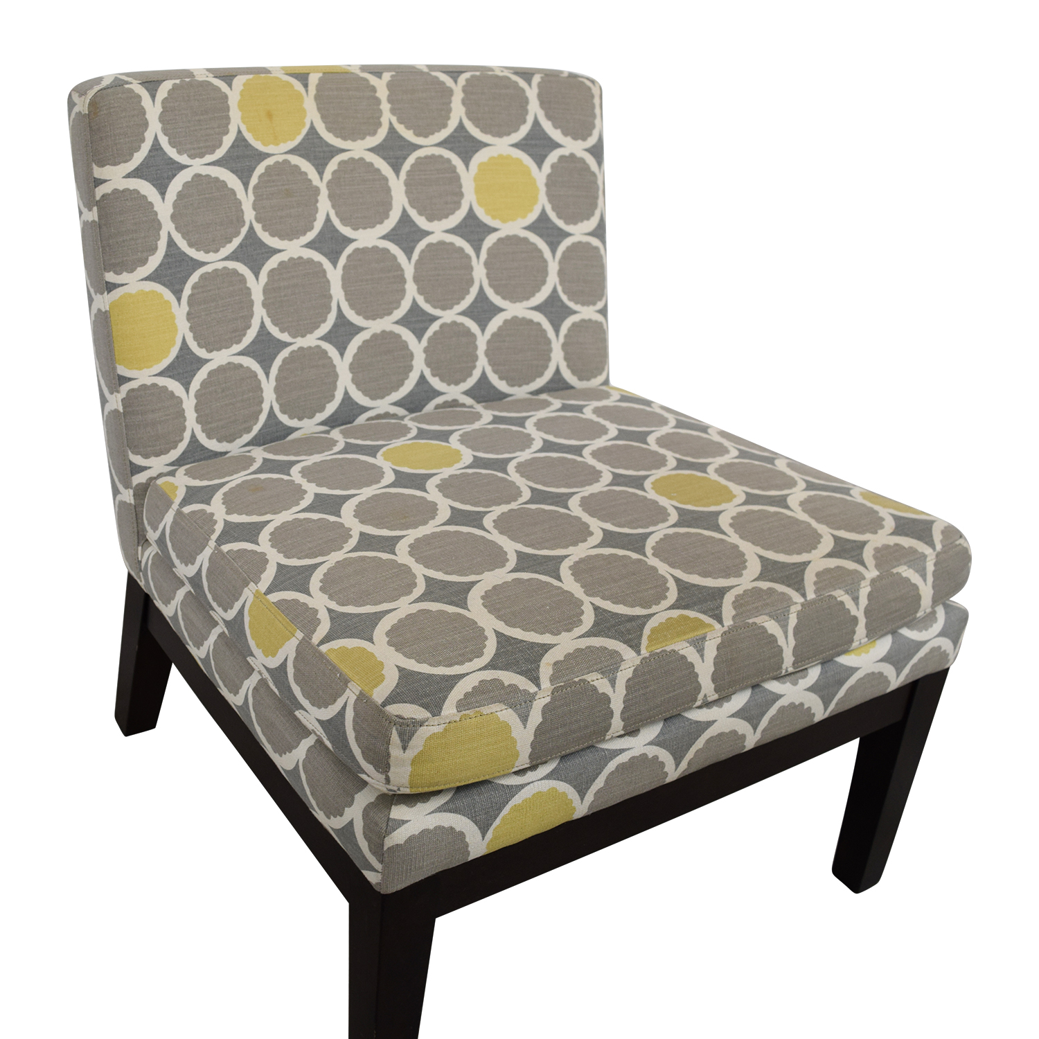 gray and yellow accent chair folding pepperfry 72 off west elm grey white