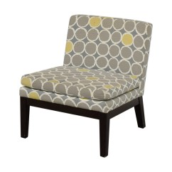 Gray And Yellow Accent Chair Retro Dining Table Chairs Uk 72 Off West Elm Grey White