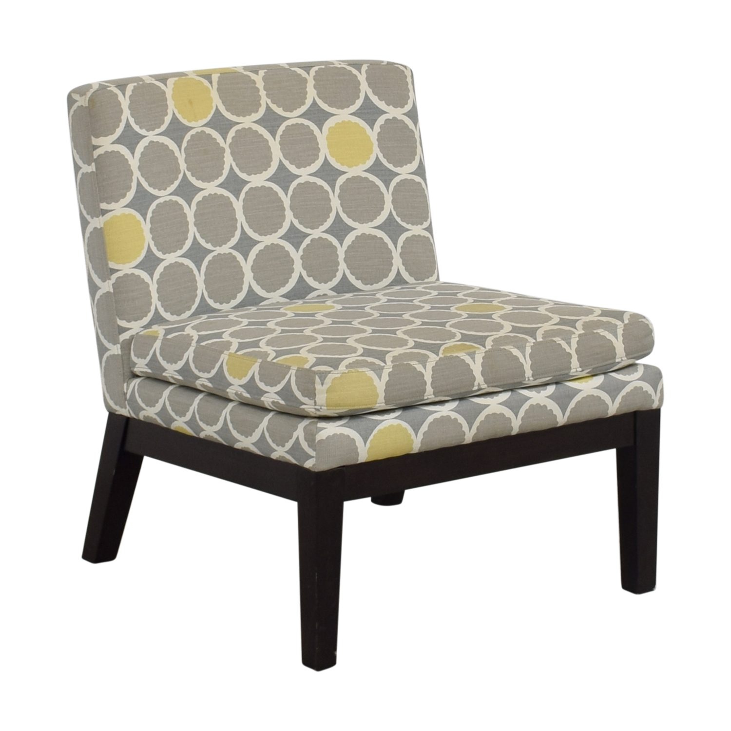 gray and yellow accent chair pottery barn lamb 72 off west elm grey white