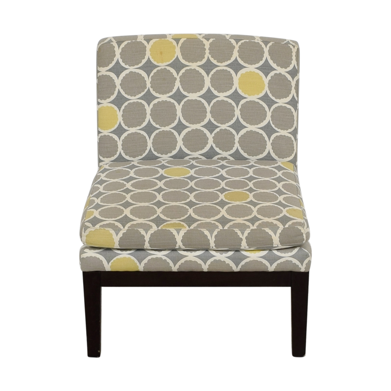 gray and yellow accent chair 4moms high 72 off west elm grey white
