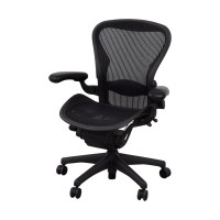 74% OFF - Herman Miller Herman Miller Aeron Black Chair ...