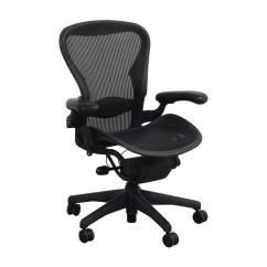 Office Chair Dimensions Side Dining Chairs 74 Off Herman Miller Aeron Black
