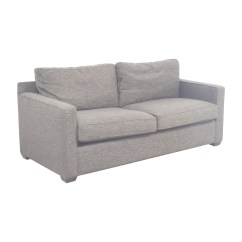 Crate And Barrel Sofa Cushion Replacement Cleaning Nj 64 Off Davis Grey Two