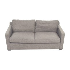 Crate And Barrel Sofa Cushion Replacement L Shaped Sofas Ikea 64 Off Davis Grey Two