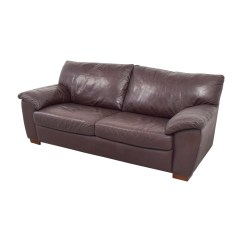 Used Sofa How To Make Cum Bed 87 Off Ikea Vreta Brown Leather Two Cushion