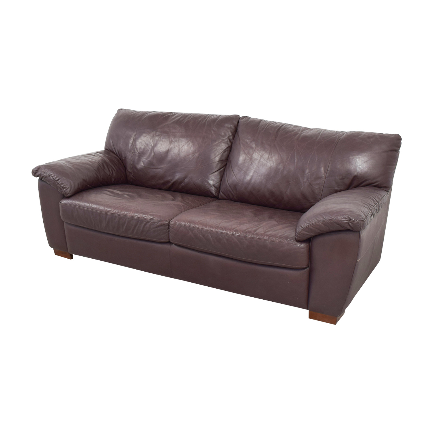 leather sofas ikea pet friendly uk 87 off vreta brown two cushion sofa