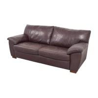 87% OFF - IKEA IKEA Vreta Brown Leather Two-Cushion Sofa ...