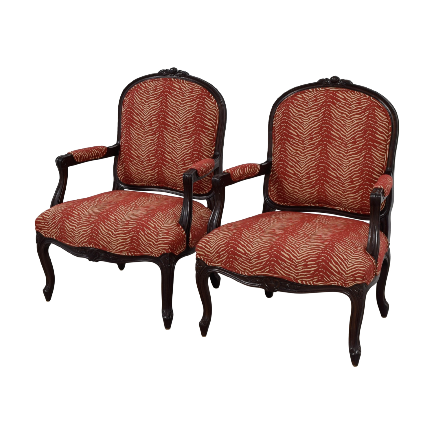 Red And White Accent Chair 88 Off Century Century Louis Xv Bergere Red And White