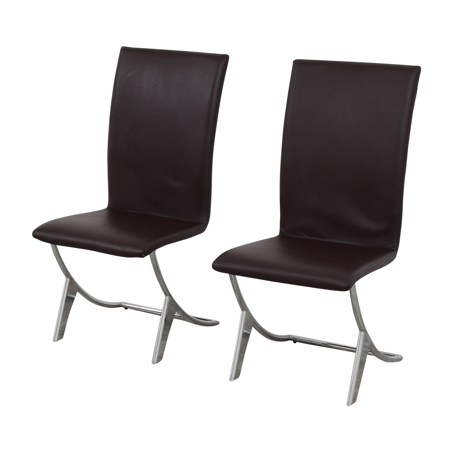 chocolate leather dining chairs outdoor chair covers for sale 80 off brown