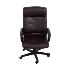 Brown Leather Computer Chair Clear Hanging With Stand 82 Off Desk Chairs