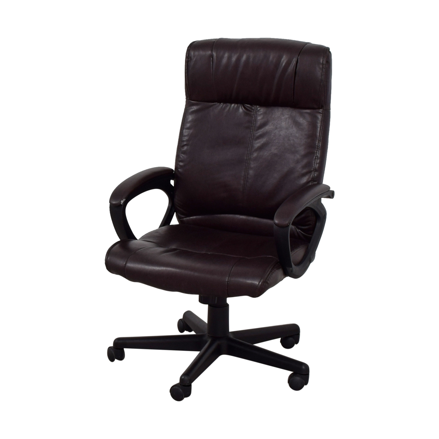 82 OFF  Brown Leather Desk Chair  Chairs