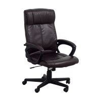 82% OFF - Brown Leather Desk Chair / Chairs