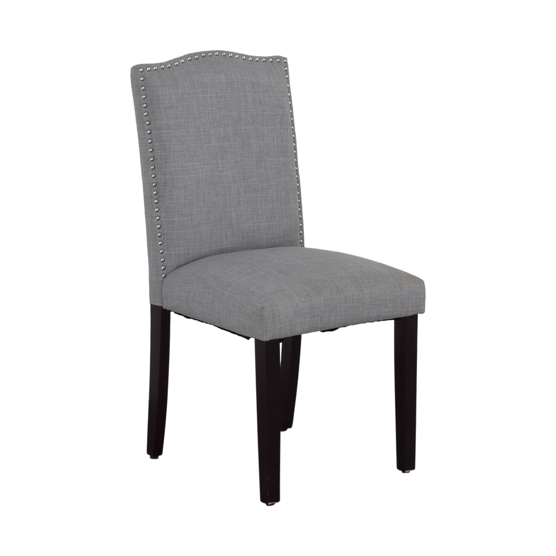 cheap hand chair portable office 78 off grey nailhead fabric chairs