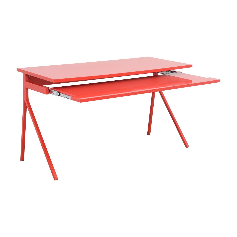 83 OFF  Blu Dot Blu Dot 51 Red Desk  Tables