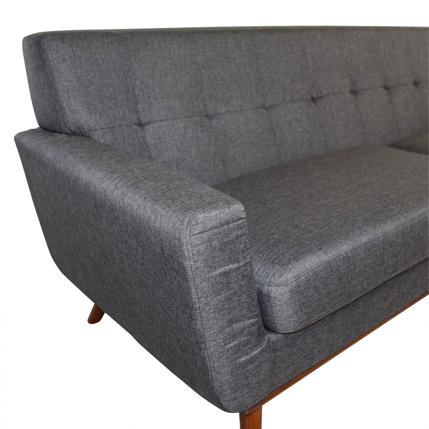 charcoal gray tufted sofa dry cleaning cushions 51 off inmod grey lars sofas