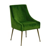 53% OFF - Tov Tov Green Velvet Accent Chair / Chairs
