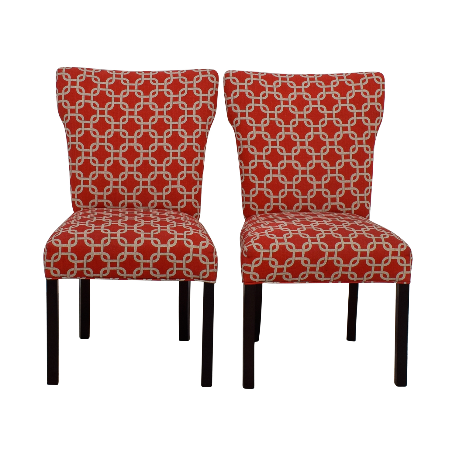 Red And White Accent Chair Chairs White Sale