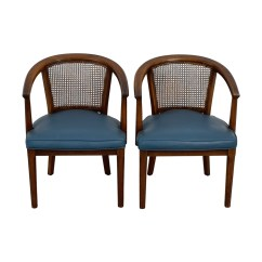 Cane Barrel Chair Swing Price In Nepal 76 Off Vintage Mid Century Navy Chairs