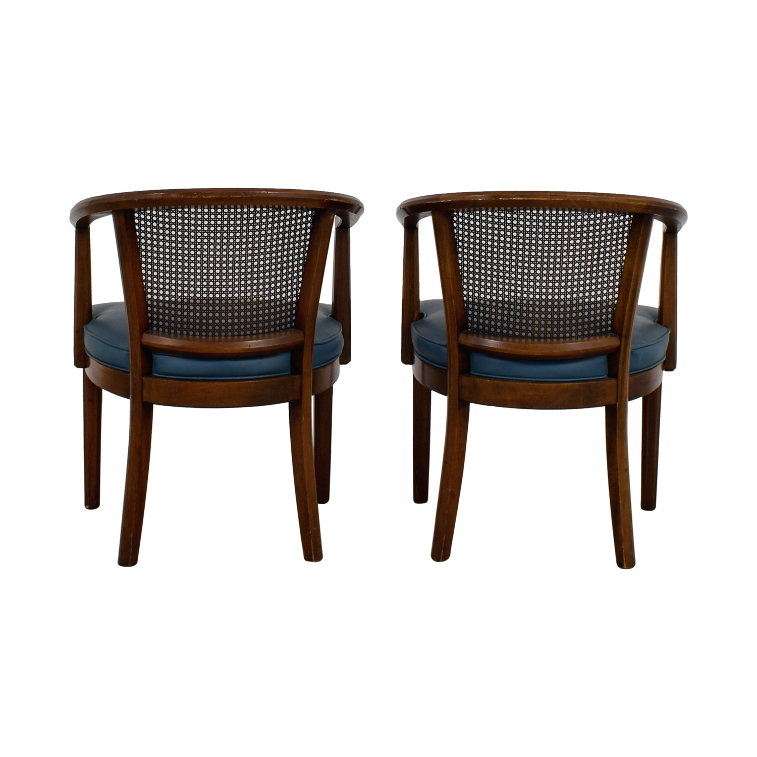 mid century cane barrel chair mickey high buy used furniture on sale