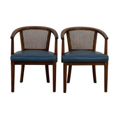 Mid Century Cane Barrel Chair 24 Hour Office Chairs Canada 41 Off Gold And Red Wide Accent Vintage Navy