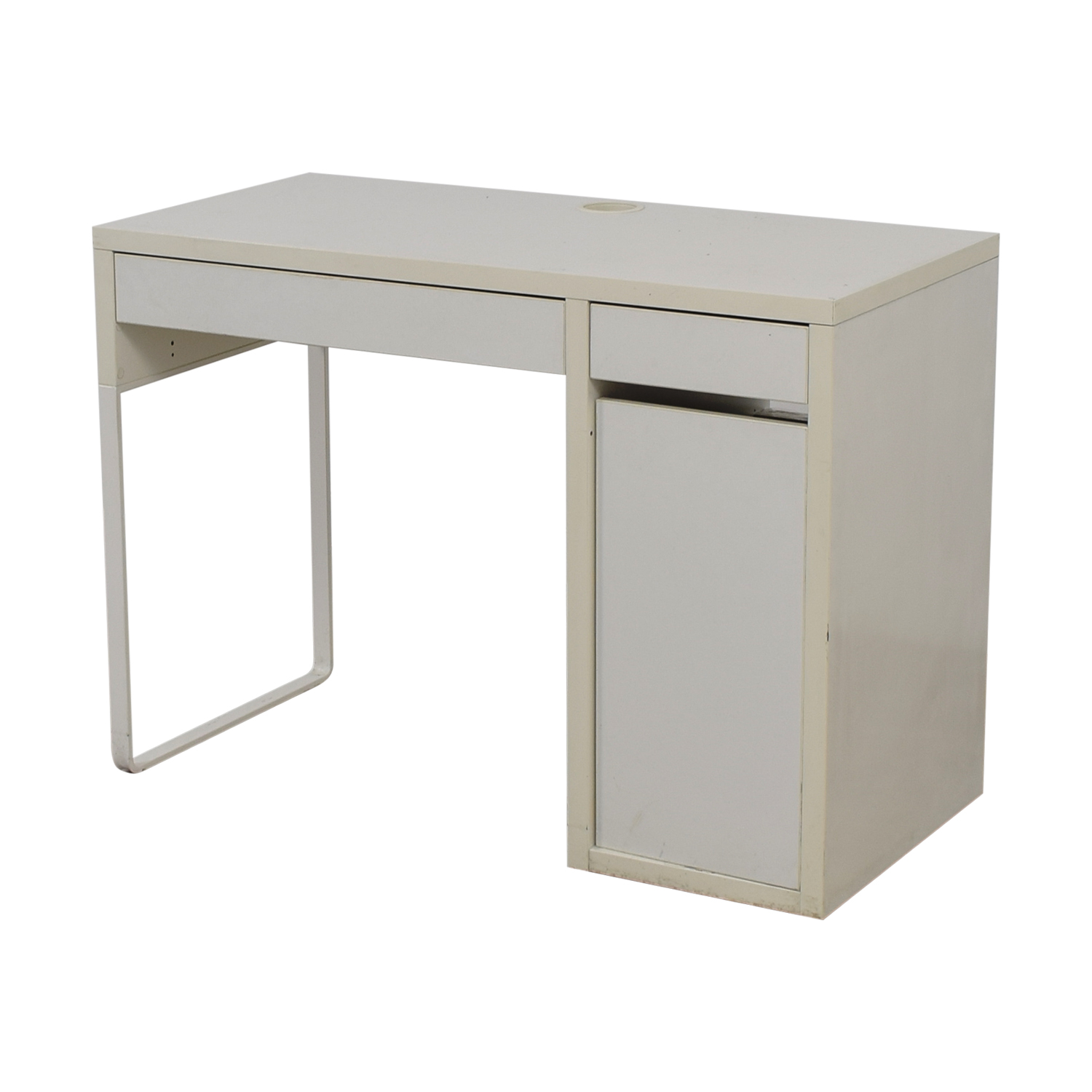 60 OFF  TwoDrawer White Desk with High Rover and