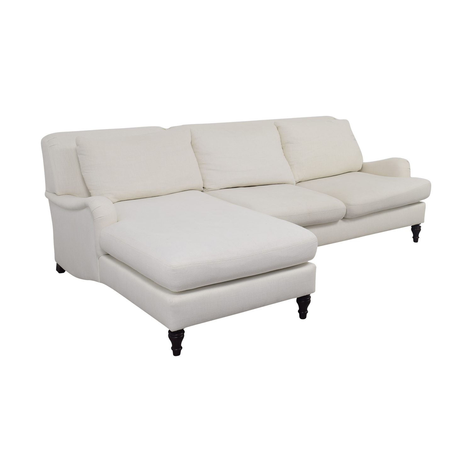 pottery barn chaise sofa sectional bags 79 off carlisle white